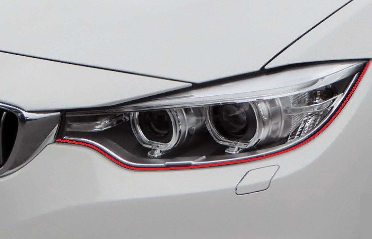 passend f/ür Ihr Fahrzeug Devil Teufel Scheinwerfer Aufkleber Stripes Eye in rot