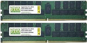 128GB 2x64GB DDR4-2933Mhz PC4-23400 288-Pin LRDIMM Memory for Apple Mac Pro 2019 7,1 by NEMIX RAM