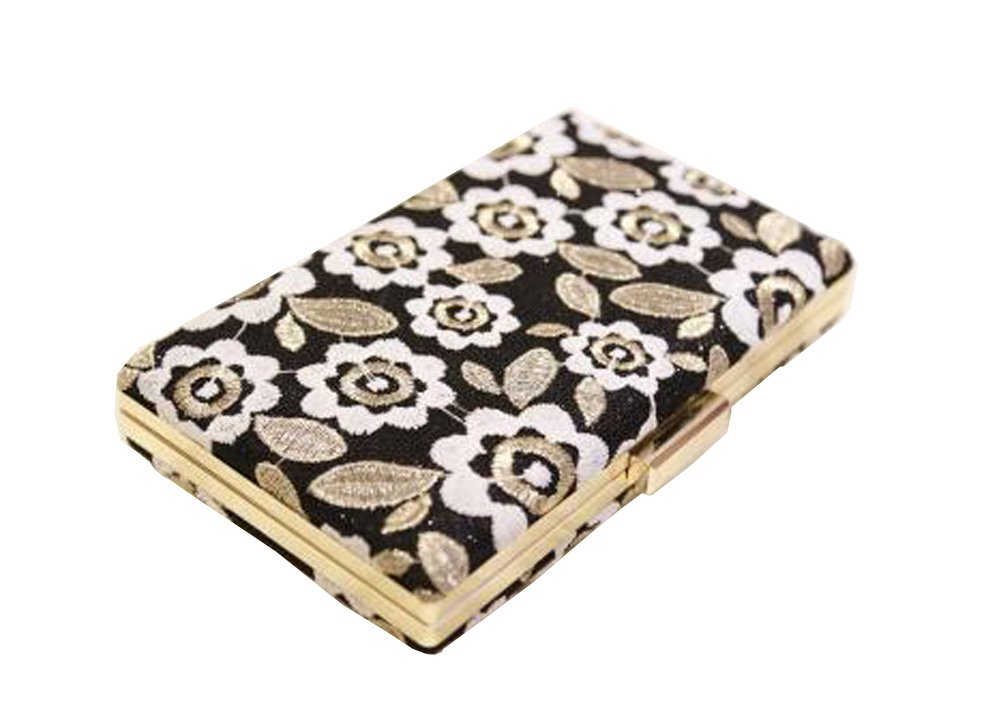 Hflove Womens Clutch Bag Lace Flower Ladies Evening Bag with Chain