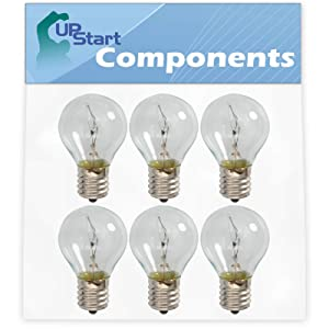 6-Pack 8206443 Light Bulb Replacement for Kenmore/Sears 83024 Microwave - Compatible with Whirlpool 8206443 Microwave Light Bulb