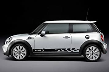 Graphics N Tees Mini Cooper S Car Sticker Side Stripe Custom - Graphics for the side of a car
