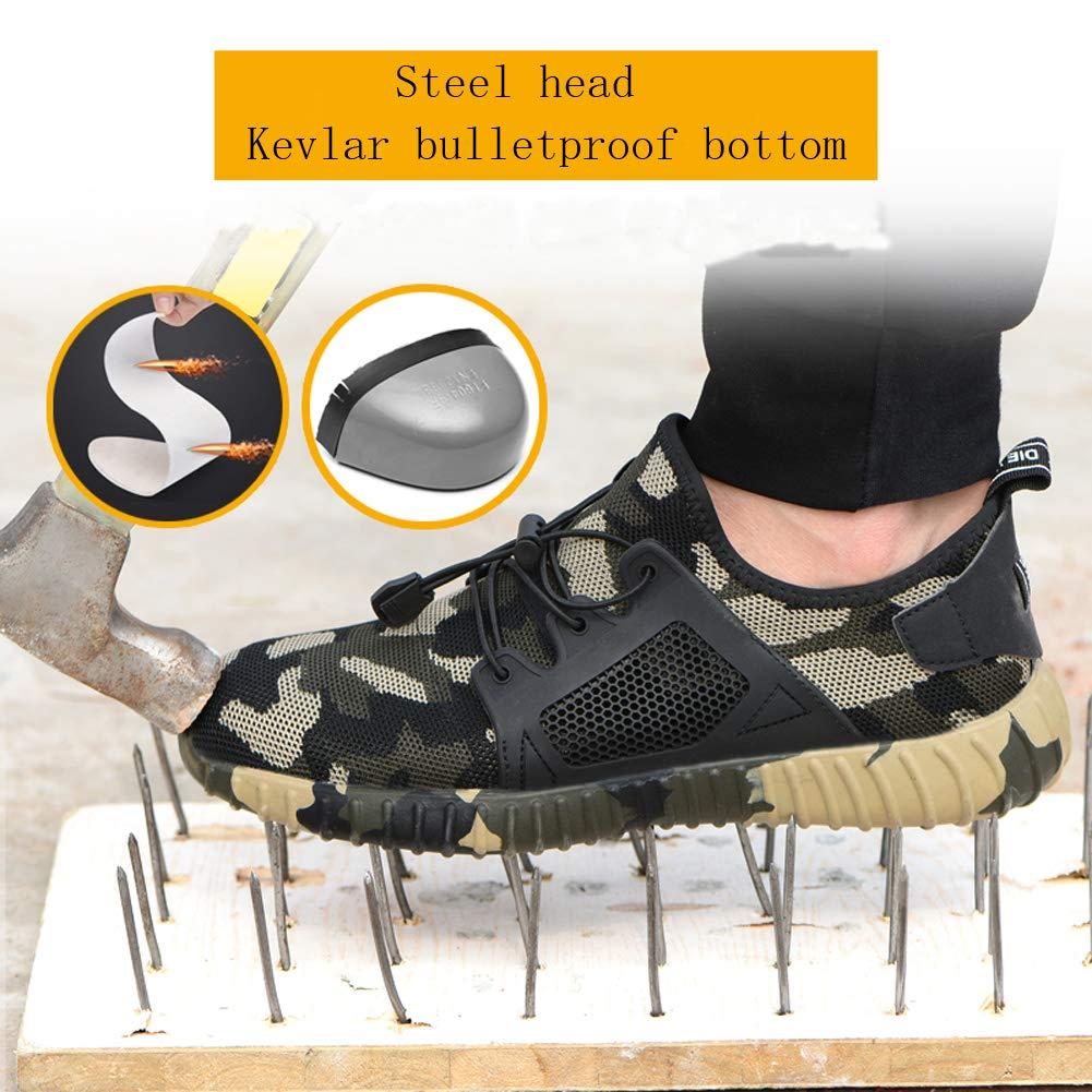 JIANYE Sicherheitsschuhe Herren Arbeitsschuhe S3 Leicht Atmungsaktiv Schutzschuhe Damen Stahlkappe Sportlich Schuhe Unisex