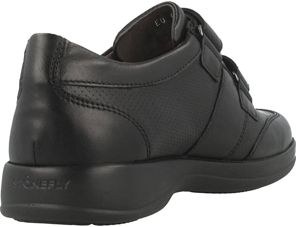Stonefly Sneaker Pelle Nero Nero