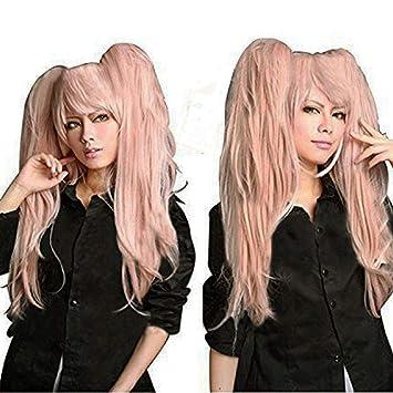 Amazon.com  Anogol Hair Cap + Ponytail Wig Pink Cosplay Wig Lolita Wig   Beauty ef3a8cd6f77b