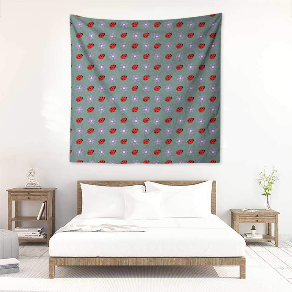 Amazon.com: Ladybugs Living Room Square Tapestry Bugs and ...