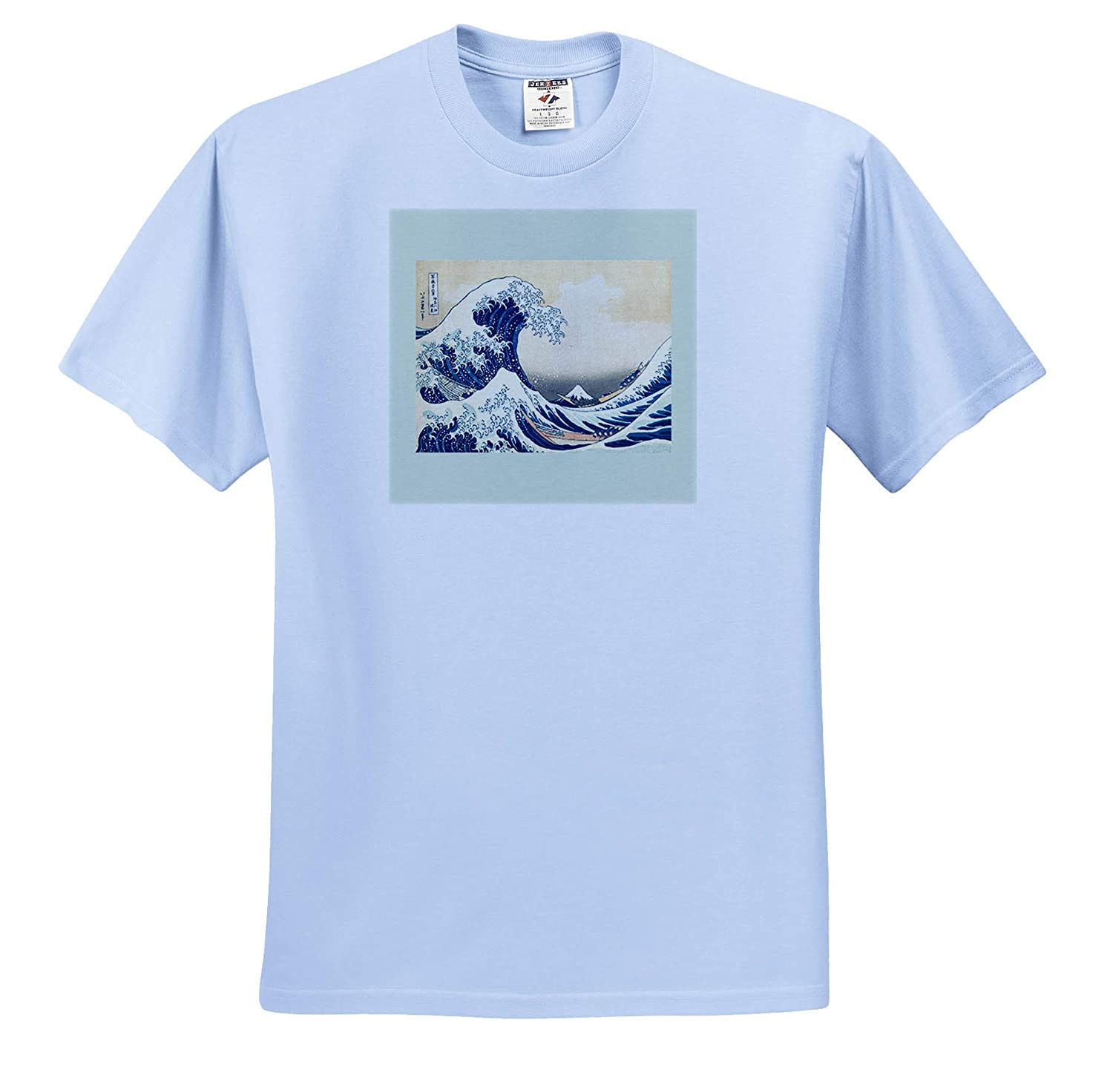 Beyond The Great Wave 3dRose Made in The Highlands Print of Hokusai Art- The Great Wave Adult T-Shirt XL ts/_309595