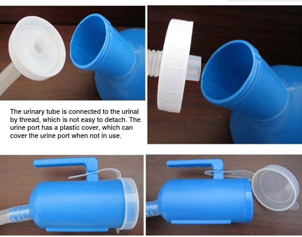 Tragbare Urinalflasche mit Deckel und Verl/ängerungsrohr 2000 ml Urinal T/öpfchen Pfannen Outdoor Urinal Kammertopf f/ür M/änner Frauen Camping Auto Reisen