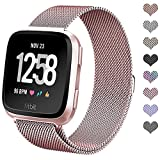 Kyпить hooroor Fitbit Versa Bands for Women Men, Milanese Loop Stainless Steel Metal Replacement Bracelet Strap with Unique Magnet Lock Accessories Wristbands for Fitbit Versa Watch (Rose Gold, Small) на Amazon.com