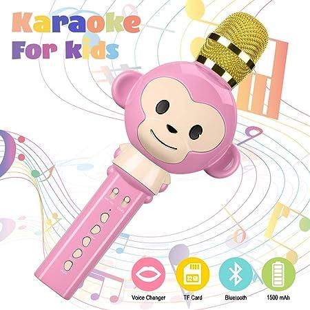Karaoke Mikrophon, Karaoke Anlage kinder ?Bluetooth 4.2 Karaoke-Mikrofon Tragbare Handheld Karaoke Mic Home Party Weihnachten