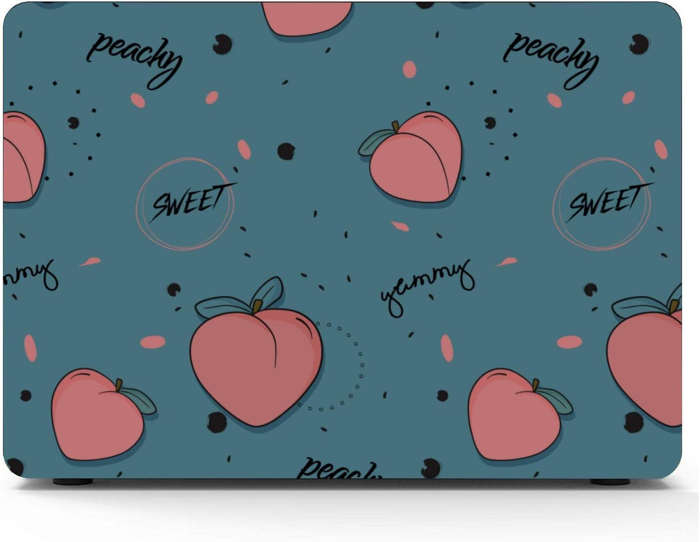 Mac Air Case Summer Pink Creative Fruit Peach Plastic Hard Shell Compatible Mac Air 11 Pro 13 15 MacBook Pro Protective Case Protection for MacBook 2016-2019 Version