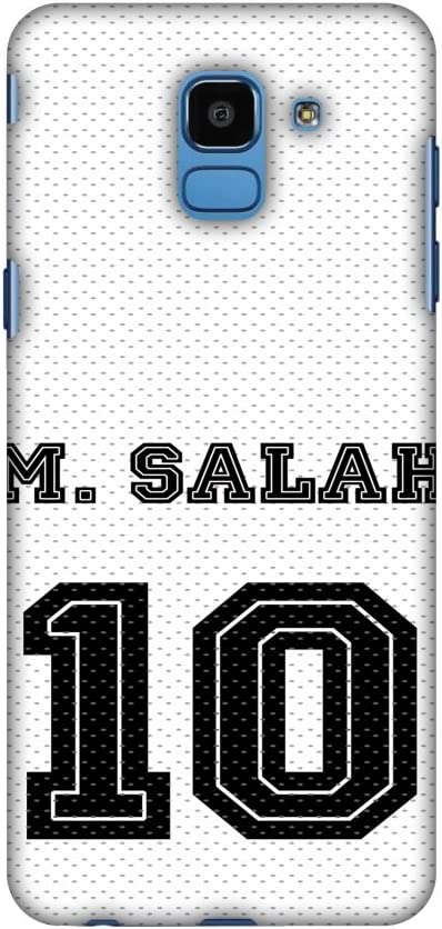 AMZER Slim Designer Snap On Hard Case Back Cover for Samsung Galaxy J6 (2018) - Football - M. Salah Jersey