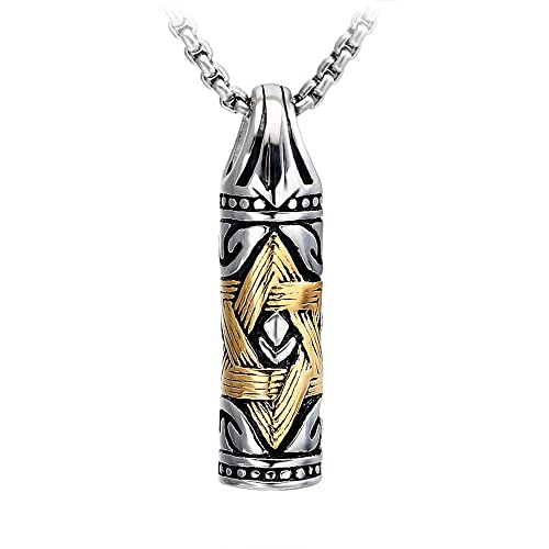 Amazon Ocarly Titanium Steel Star Of David Necklace Hexagram