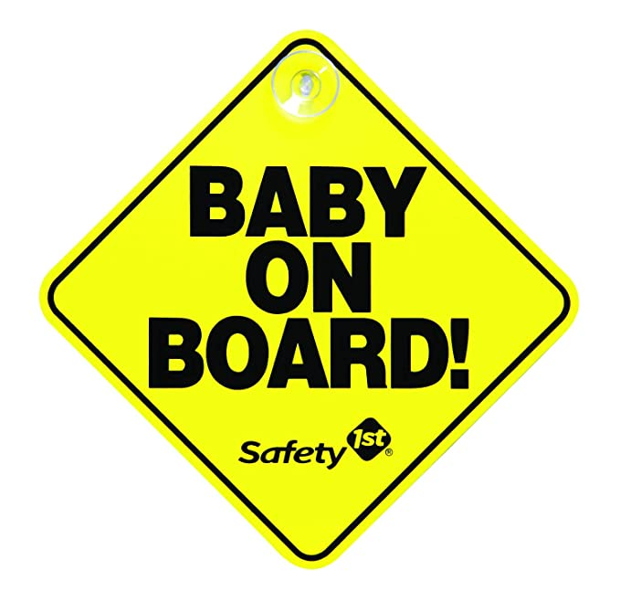 Baby On Board Please Don/'t Tailgate Car Sign,Baby On Board Sign,Suction Cup Sign