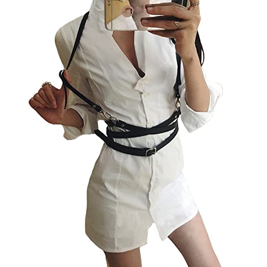 9723369a3ff6 Leather harness sexy women Dark Rock street strap body harness cool ...
