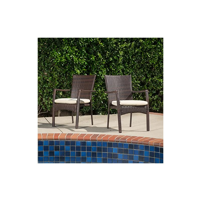 Terrific Abbyson Living Newport Outdoor Black Wicker Storage Ottoman For Patio Pool Ocoug Best Dining Table And Chair Ideas Images Ocougorg