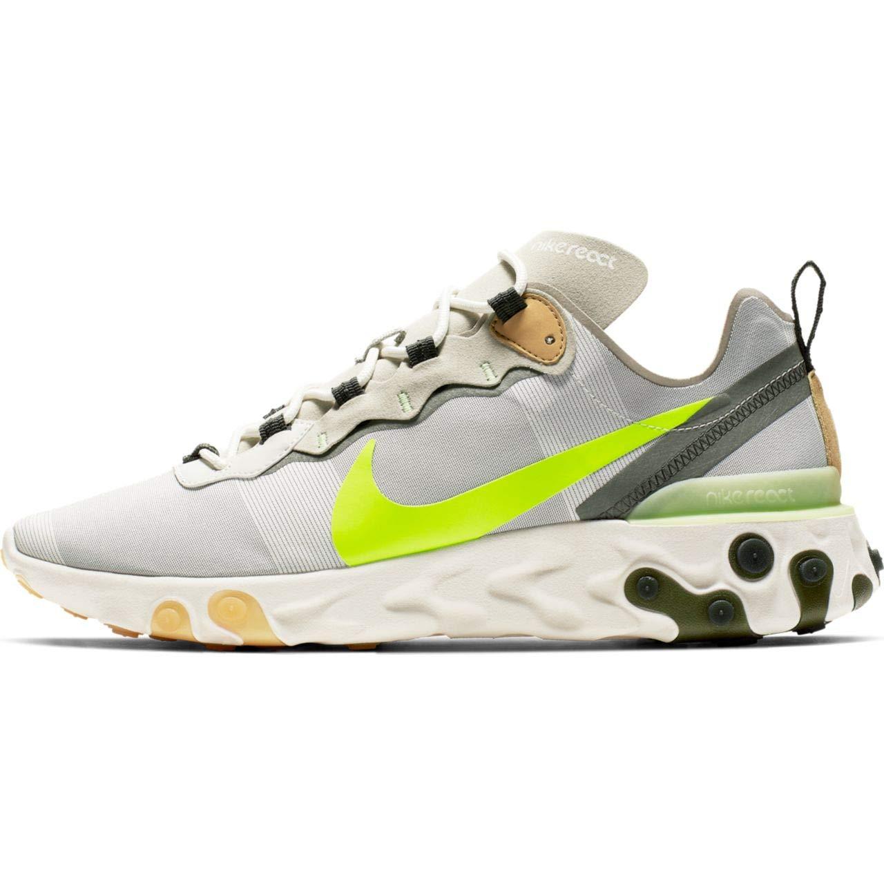 MultiCouleure (Spruce Aura Volt Spruce Fog Barely Volt 000) 44 EU Nike React EleHommest 55, Chaussures d'Athlétisme Homme