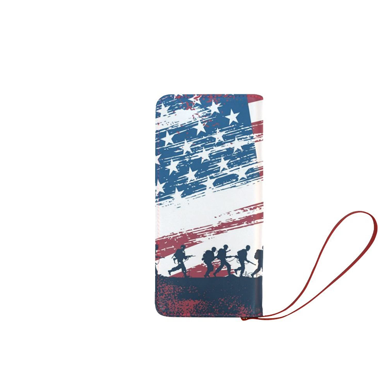 meincare Women's Soldiers with American Flag Clutch Purse
