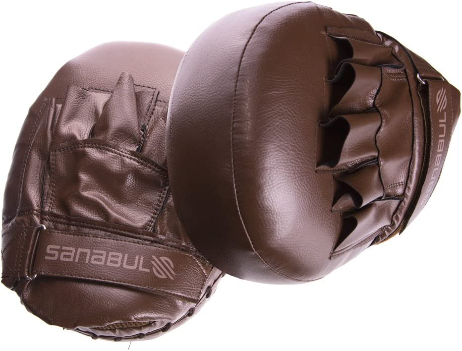 Pair Brown, Standard Sanabul BattleForged Striking Air Mitts
