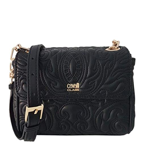 Cavalli Class Small Shoulder Bag Blossom CRC001 Black  Amazon.it  Scarpe e  borse f46bd4293ee