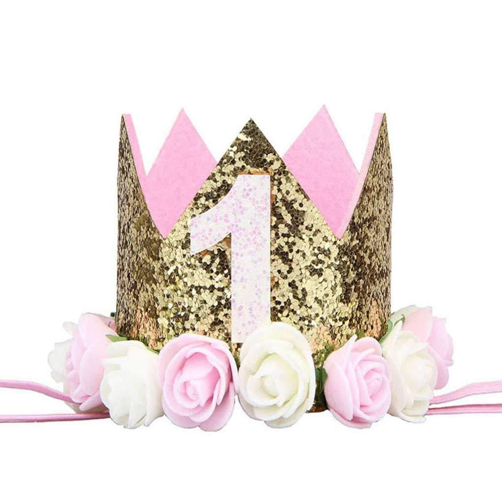 Gonee Ragazza Ragazzo Festa di Compleanno del Bambino del Fiore la Protezione della Fascia 1//2 1 2 3 Anni Quanti Newborn Cappello di compleannoMengonee