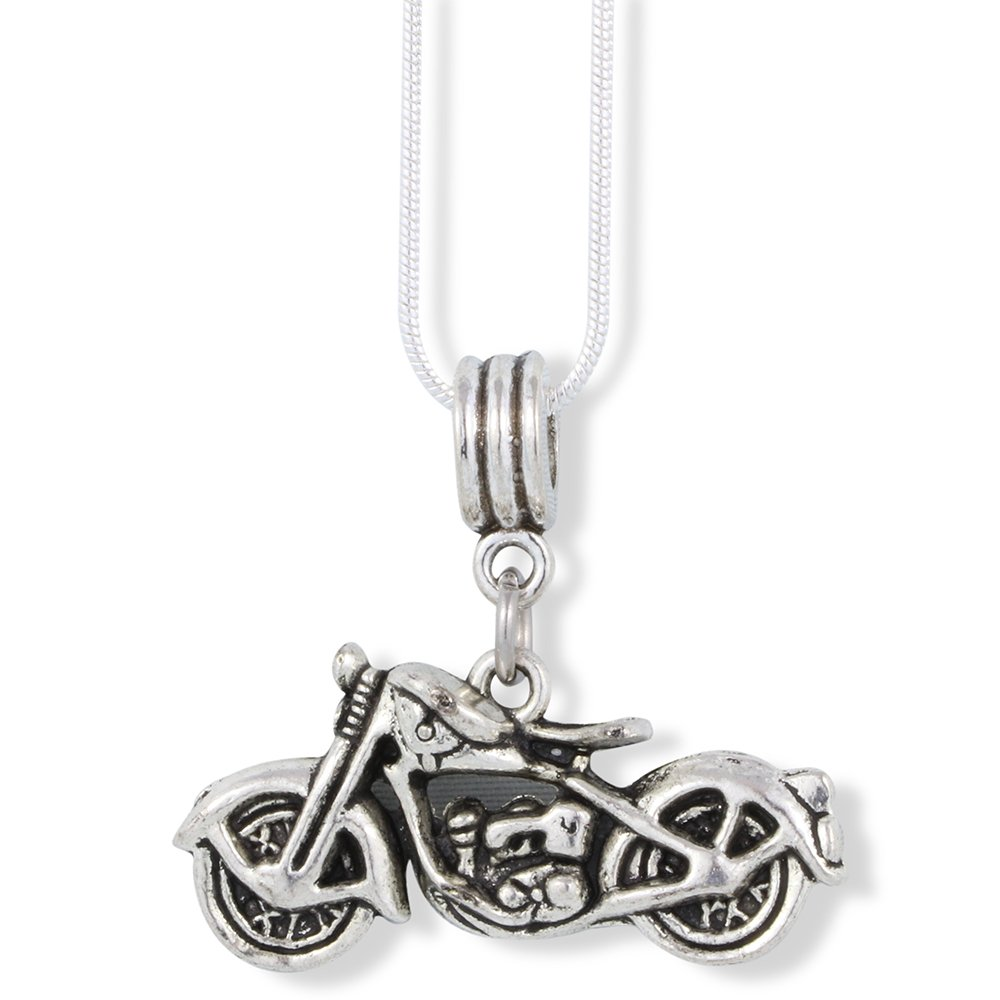Emerald Park Jewelry Harley Davidson Triumph Indian Motorcycle Charm Snake Chain Necklace B07BSN7B69_US