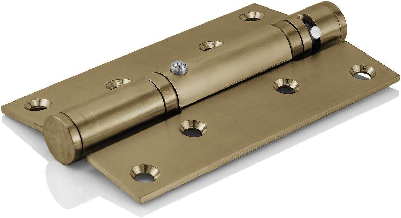Schrauben Bronze Edelstahl Scharnier 4 Stk inkl selbstschlie/ßend Hydraulisches MidGard T/ürscharnier mit Kugellager