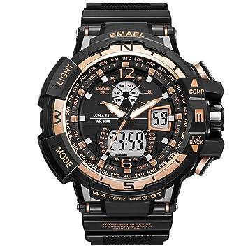 SW Watches Relojes Sport Men Reloj Marca Shock Reloj De Hombre Cuarzo Digital Relojes LED Hombres 1376C,K: Amazon.es: Deportes y aire libre