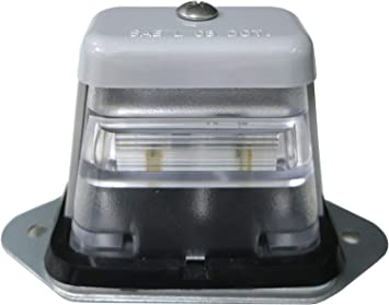 Heavy Duty Truck RV Licenses Plates Lights Waterproof Universal Surface Mount LED Trailer License Plate Lights SAE//DOT Certified Chrome Automotive Courtesy Step Tag Lights Safety ATV Boat Lamp