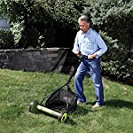 Sun Joe Mow Joe 16 in. Manual Reel Mower with Catcher 5 Dimensions: 52.4L x 22.6W x 53.9H in. 16 in. cutting width 4 steel cutting blades