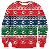 RAISEVERN Unisexs Ugly Christmas Sweater Funny Xmas Sweater Oversized Long Sleeve Knitted Pullover
