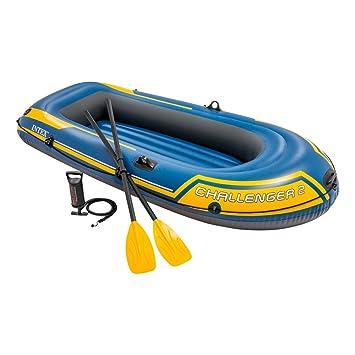 Intex 68367NP - Barca hinchable Challenger 2 con remos 236 x 114 x