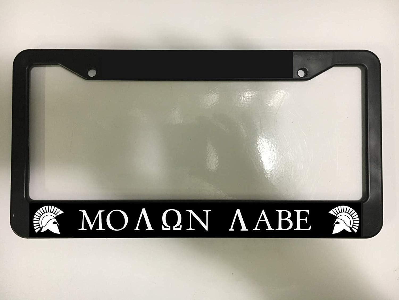 Screw Caps SLAMMED low lowered jdm JDM Black Metal License Plate Frame
