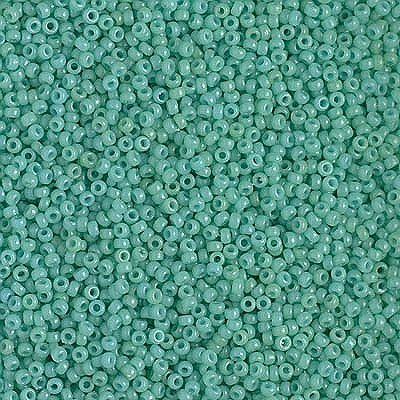 - Miyuki Round Rocaille Seed Beads Size 15/0 8.2GM-tube DURACOAT Opaque Turquoise 15-4475