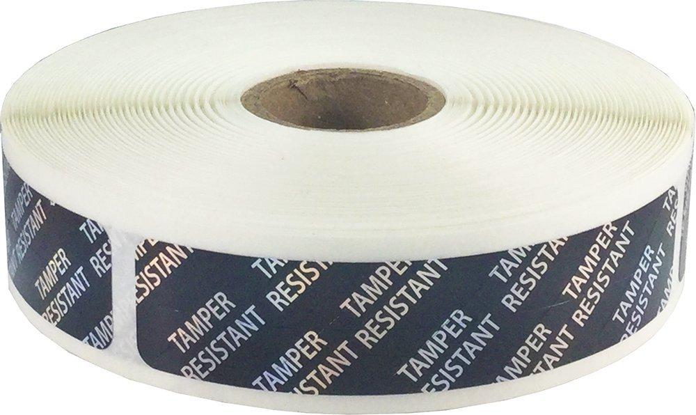 Hologr/áfico Negro Resistente a la Manipulaci/ón Pegatinas 19 x 89 mm 3//4 x 3,5 Pulgadas de Ancho 500 Etiquetas en un Rollo