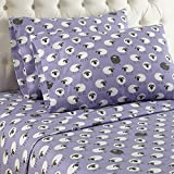 Thermee Micro Flannel Sheet Set, Twin, Counting Sheep/ Lavendar