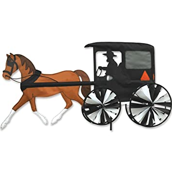 Amazon.Com: Premier Designs Horse And Buggy Spinner: Patio, Lawn