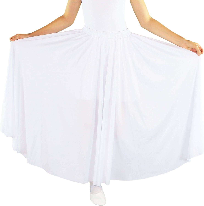 Danzcue Girls Long Full Circle Dance Skirt: Clothing