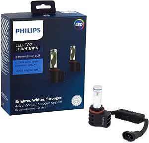 Philips H8/H11/H16 X-tremeUltinon Automotive LED Fog Light, 2 Pack