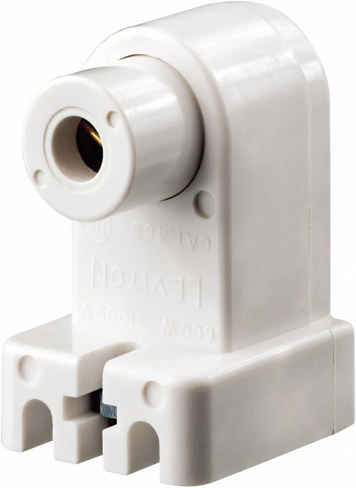 Leviton 466 Slimline Base Single Pin Fluorescent Lampholder Pedestal Slide On Plunger White Light Sockets Amazon Com