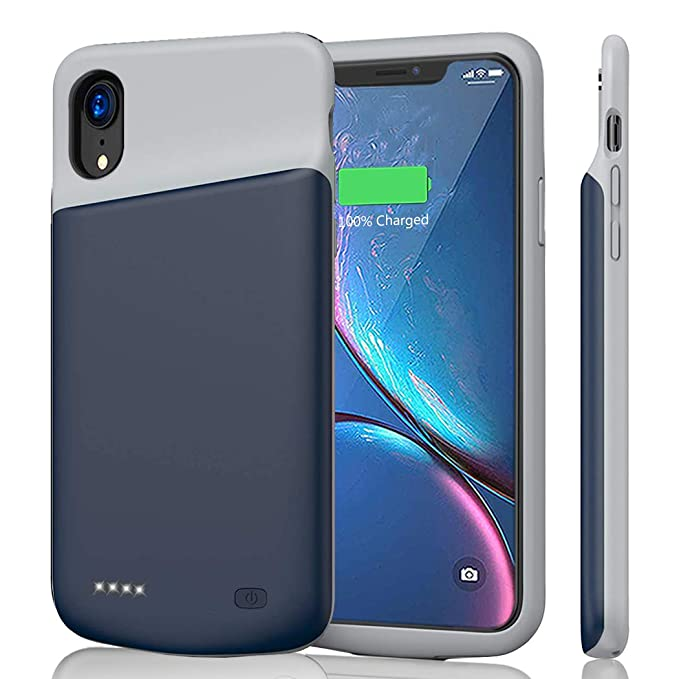 the best attitude 523db 0f238 iPhone XR Battery Case 6000mAh, JERSS Portable Rechargeable Battery Pack  Charging Case for Apple iPhone XR(6.1 inch) Extended Battery Charger Case  ...