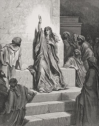 Posterazzi Engraving Bible Judges V 1 and 2 Deborah Poster Print by Gustave Dore 1832-1883 French Artist And Illustrator (13 x 17)]()