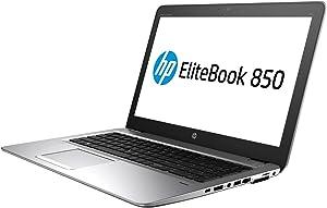 "HP Elitebook 850 G4 15.6"" Notebook, Windows, Intel Core i5 2.6 GHz, 8 GB RAM, 256 GB SSD , Silver (1BS49UT#ABA)"