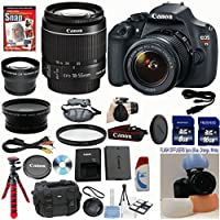 Canon EOS Rebel T5 DSLR CMOS Digital SLR Camera and DIGIC Imaging w/ EF-S 18-55mm f/3.5-5.6 IS Lens Celltime Exclusive Bundle w/ 14pc Accessory Kit - International Version Basic Intro Review Image