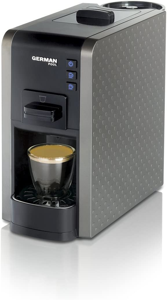 German Pool CMC-111GY Fácil limpieza con gran variedad de bebidas Espresso/Cappuccino Multi-Cápsula Café Gris: Amazon.es: Hogar