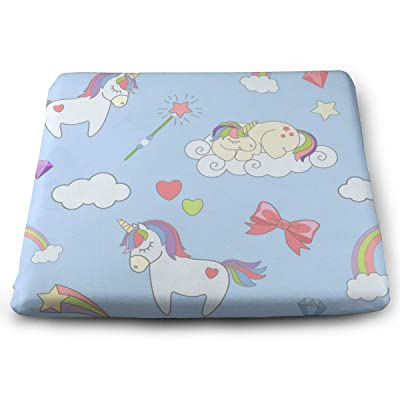 Sanghing Customized Cute Unicorns 0 1.18 X 15 X 13.7 in Cushion, Suitable for Home Office Dining Chair Cushion, Indoor and Outdoor Cushion.: Home & Kitchen