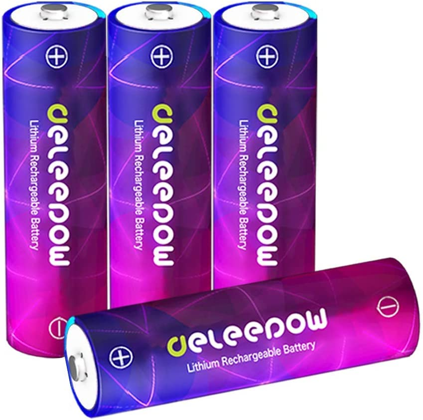 Amazon Com Deleepow Aa Rechargeable Batteries 1 5v High Capacity 3200mwh Lithium Li Ion Rechargeable Aa Batteries 1500 Cycles Double A Battery 4 Pack No Include Charger Electronics