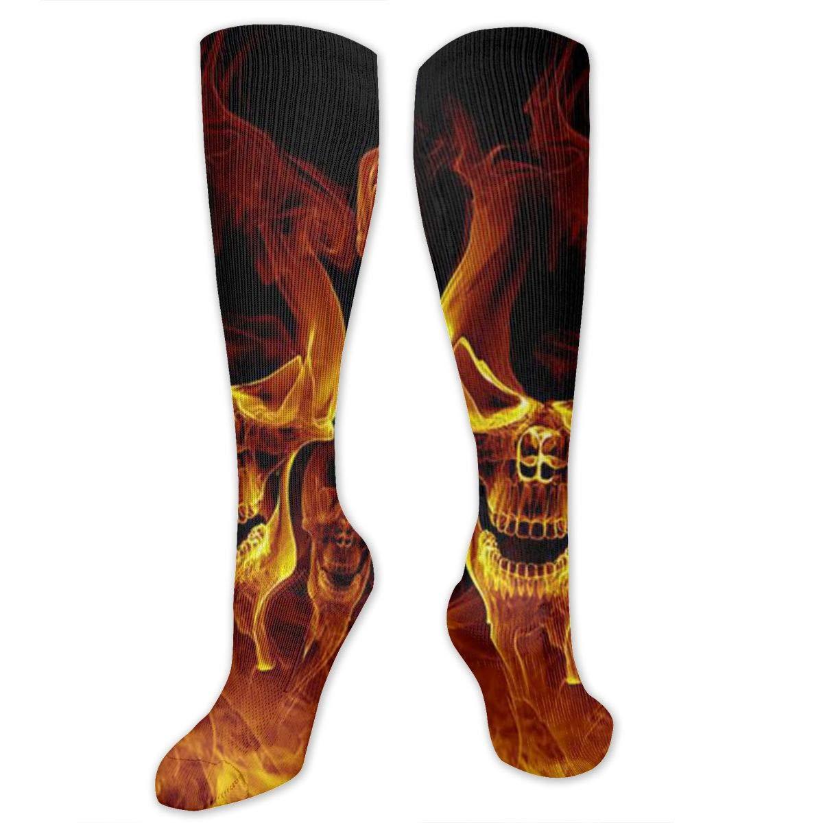 Men Multicolored Pattern Fashionable Fun Crew Cotton Socks Chanwazibibiliu Red Burnning Flame Skeleton Skull Head Mens Colorful Dress Socks Funky