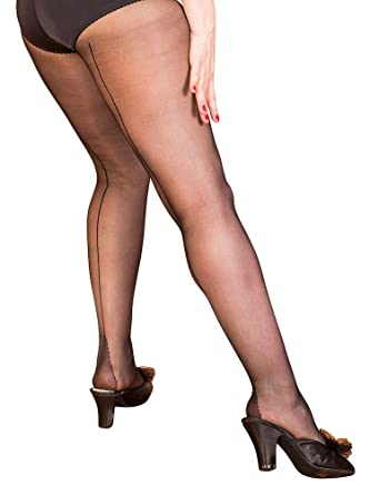 abe665e17d9 What Katie Did Seamed Tights Black  Amazon.co.uk  Clothing