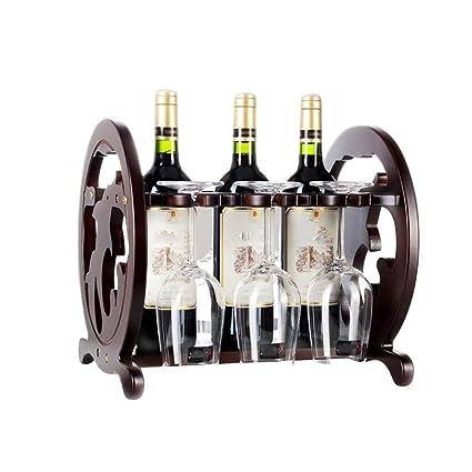 Estante del vino de Madera Decoración Forma Al revés Portavasos Adornos de exhibición Europeo Creativo Retro