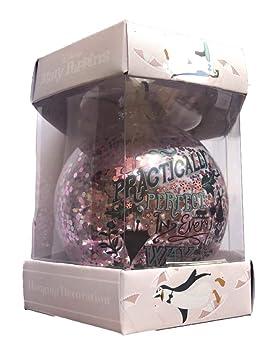 Primark Oficial Mary Poppins Bola Navidad Grande Rosa Brillante: Amazon.es: Hogar